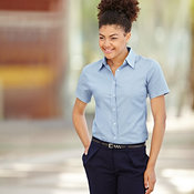 Lady-fit Oxford short sleeve shirt