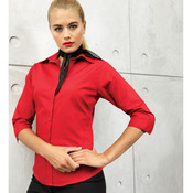 Women's ¾ sleeve poplin blouse