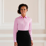 Women's long sleeve pure cotton easycare poplin shirt