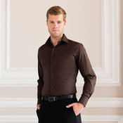 Long sleeve easycare fitted shirt