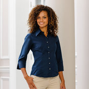 Women's ¾ sleeve Tencel® fitted shirt