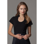 Women's corporate top keyhole neck