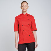 Chef's jacket stud button, technicolour short sleeve (DD56S)