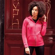 Women's authentic zipped hooded sweatshirt