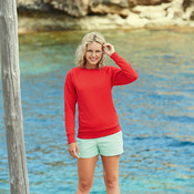 Lady-fit lightweight raglan sweatshirt