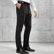 Slim fit polyester trousers