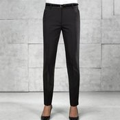 Women's tapered fit polyester trousers