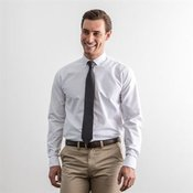 Modern long sleeve Oxford shirt