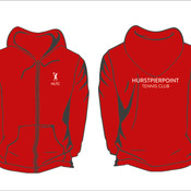 Ladies Red Zipped Hoodie