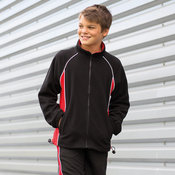 Kids piped microfleece jacket
