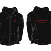 Ladies Black Zipped Hoodie