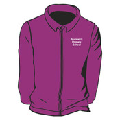 Embrodered Zip Up Fleece