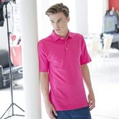 Classic polo with stand up collar