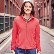 Women's full zip fitted microfleece
