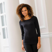 Women's ¾ sleeve stretch top