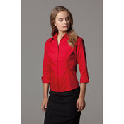 Women's corporate Oxford shirt ¾ sleeved