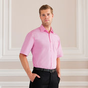 Short sleeve pure cotton easycare poplin shirt