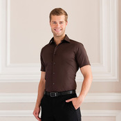 Short sleeve easycare fitted shirt