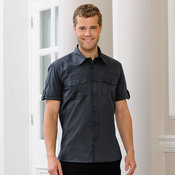 Roll-sleeve shirt short sleeve