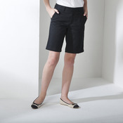 Women's Teflon®-coated flat fronted chino shorts