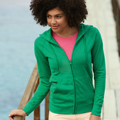Women's lightweight hooded sweatshirt jacket