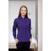 Women's mandarin collar fitted shirt long sleeved
