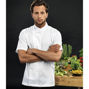 Culinary pull-on chef's short sleeve tunic