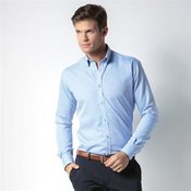 Slim fit non-iron Oxford twill shirt long sleeve