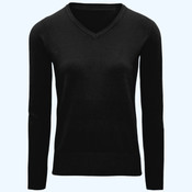 Women's cotton blend v-neck sweater
