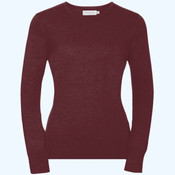 Women's crew neck knitted pullover