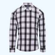 Women's Ginmill check cotton long sleeve shirt