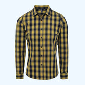 Mulligan check cotton long sleeve shirt
