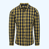 Women's Mulligan check cotton long sleeve shirt